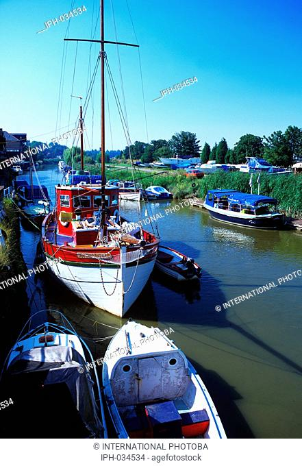 England Kent Sandwich Boats on the River Stour Peter Baker