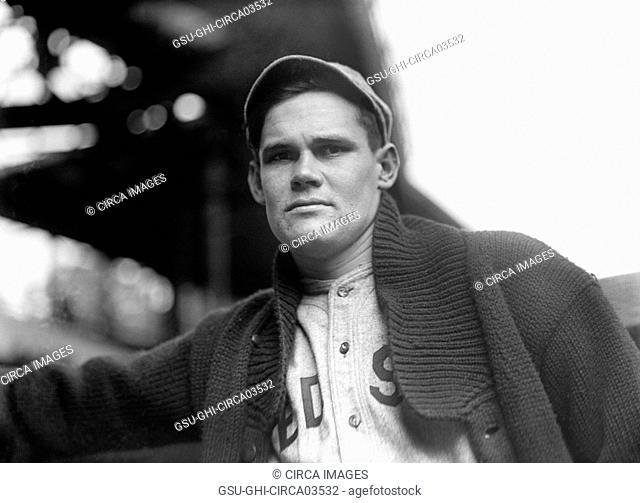 Dutch Leonard, Major League Baseball Player, Left-Handed Pitcher, Portrait, Boston Red Sox, Harris & Ewing, 1915