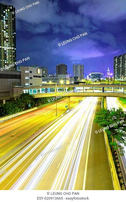 Cityscape with highway
