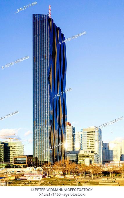 Vienna, Danube City, DC-Tower, Dominique Perrault, Austria, 22. District, Donaucity