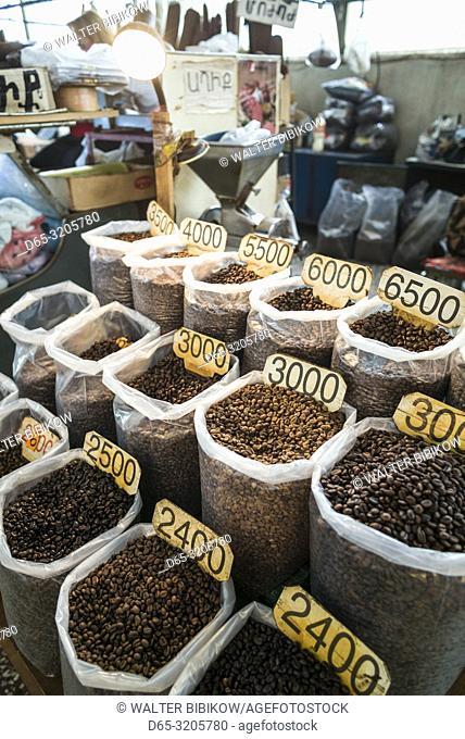 Armenia, Yerevan, G. U. M. Market, food market hall, coffee beans