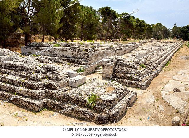 Altar of Hieron II, Neapolis Archaeological Park, Syracuse, Sicily, Italy
