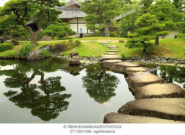 Japan, Hyogo, Himeji, Kokoen Garden,