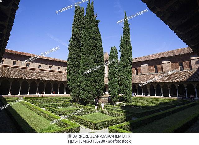 France, Haute Garonne, Toulouse, Convent des Jacobins, the cloister