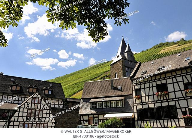 Historic town centre of Bacharach, UNESCO World Heritage Site, Upper Middle Rhine Valley, Bacharach, Rhineland Palatinate, Germany, Europe