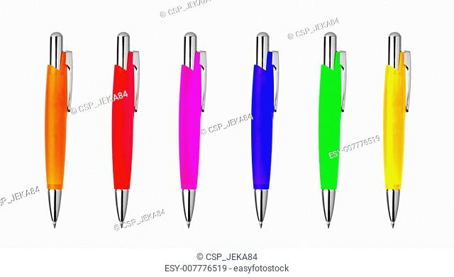 different colors pens