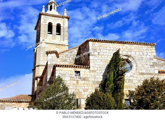 Church of Santa Cruz in Tordomar, Burgos, Spain