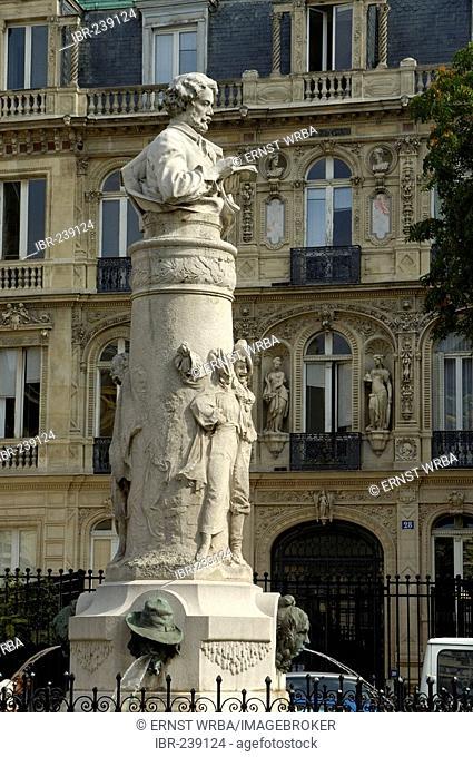 Memorial, Place St. Georges, Montmartre, Paris, Ile-de-France, France