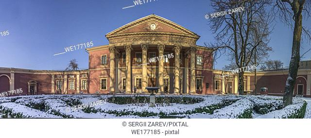 Panoramic view of the Art Museum in Odessa, Ukraine. One of the principal art galleries of the city
