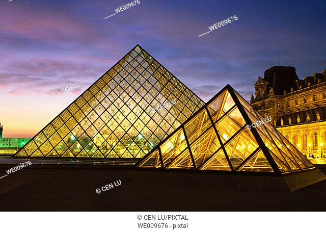 Exterior of Louvre Museum. Paris. France
