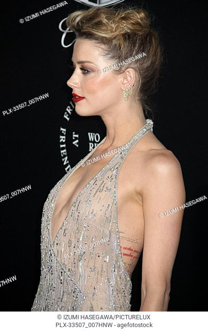 "Amber Heard 01/06/2018 The Art Of Elysium Announces 11th Annual Black Tie Artistic Experience """"Heaven"""" held at The Historic Barker Hangar Santa Monica Airport..."