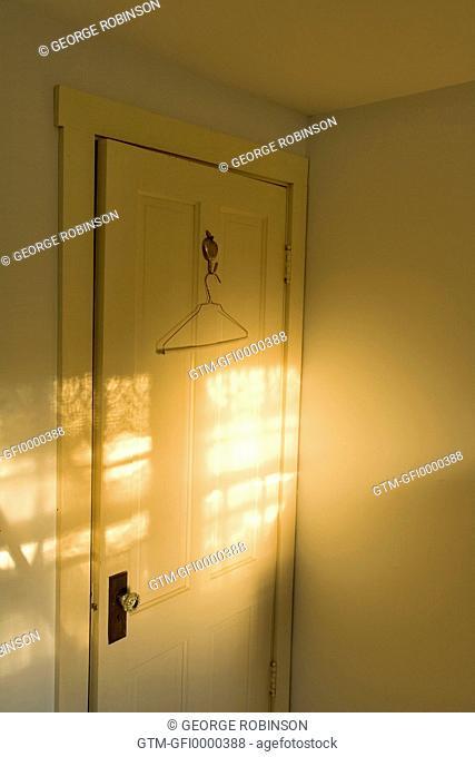Door with coat hanger
