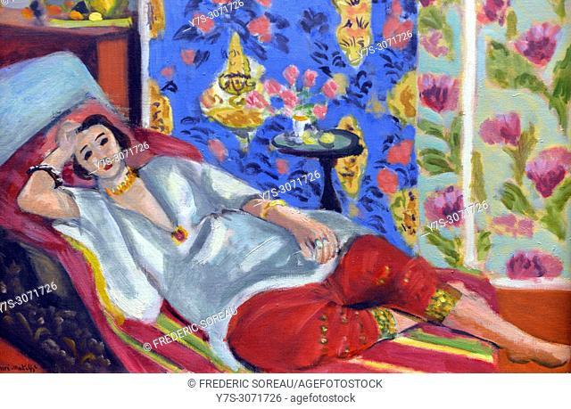 Odalisque à la culotte rouge, 1924-25, Henri Matisse (1869-1954), in the Orangerie Museum, The Tuileries, Paris, France