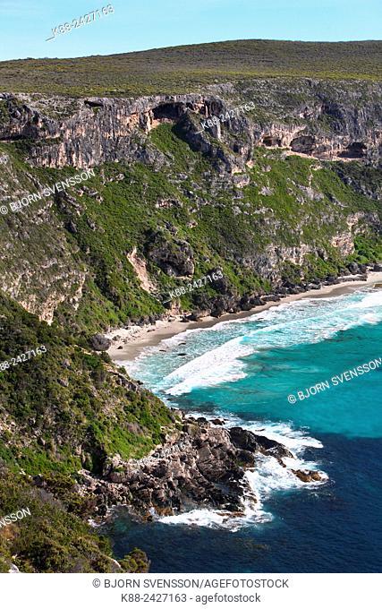 Coastal cliffs in Flinders Chase National Park. Kangaroo Island, South Australia