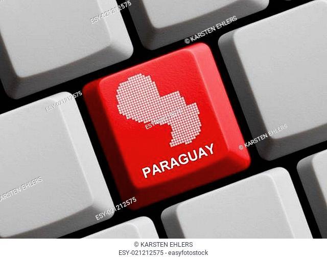 Paraguay - Umriss auf Tastatur
