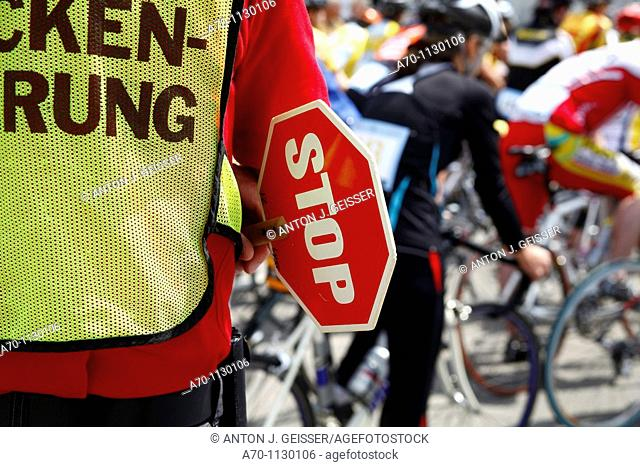 Cyclist stop sign switzerland