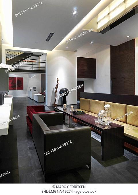Contemporary dining area in modern interior