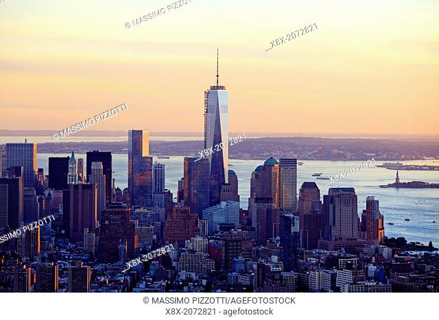 Manhattan seen from Empire State Building, New York City, USA