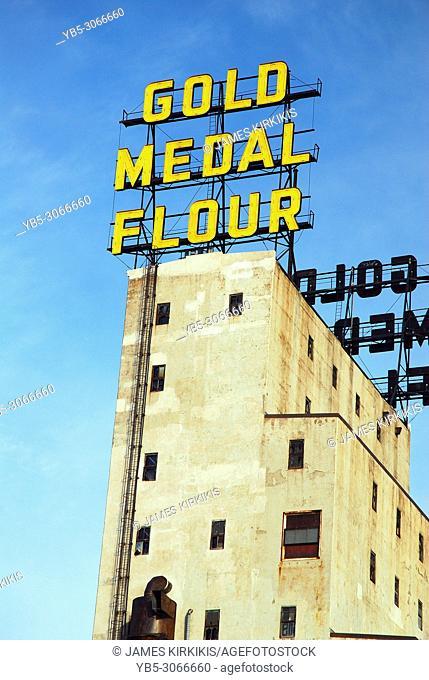 the hsitoric Gold Medal Flour plant, Minneapolis, Minnesota