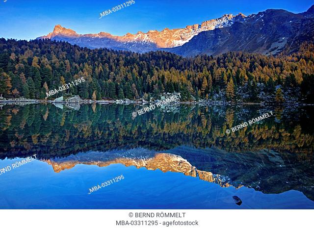Switzerland, Canton of Grisons, the Engadine, Oberengadin, Lago da Saoseo