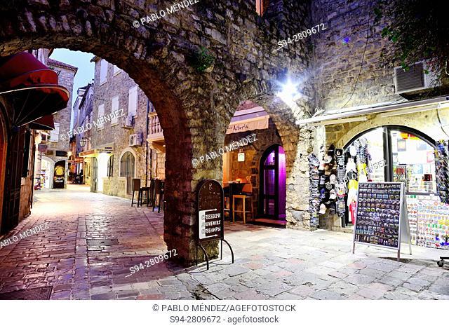 "Old Town """"Stari Grad"""" of Budva, Montenegro"