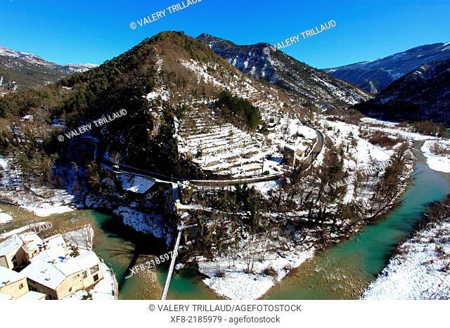 Village of Roquesteron, Esteron valley, Alpes-Maritimes, Parc régional des Préalpes d'Azur, Préalpes d'Azur regional park, Provence-Alpes-Côte d'Azur, France