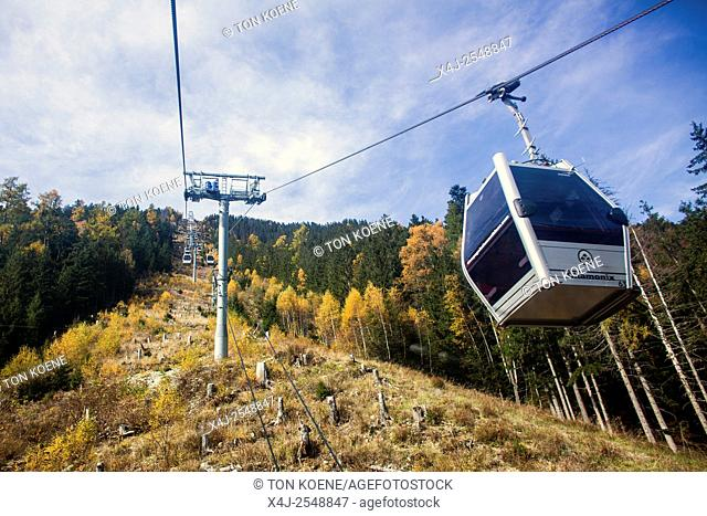cableway in the French Alps