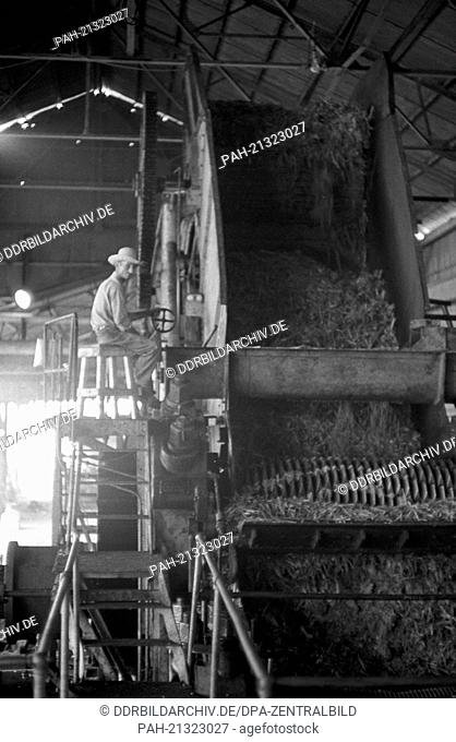 """View of a sugar factory in Cienfuegos on the 22nd of November in 1972. With the help of socialist """"""""brother nations"""""""" like the GDR, USSR and Czechoslovakia"""