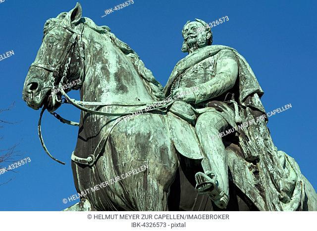 Monument of Emperor William I, Egedienplatz, Nuremberg, Franconia, Bavaria, Germany
