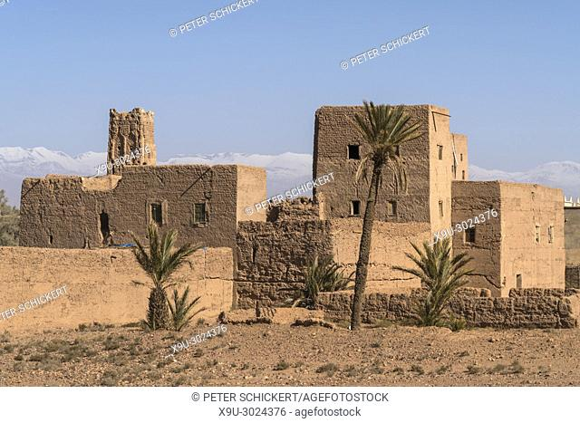 Kasbah at Skoura oasis, Ouarzazate, Kingdom of Morocco, Africa