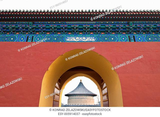 Imperial Vault of Heaven in The Temple of Heaven (Altar of Heaven) in Beijing, China