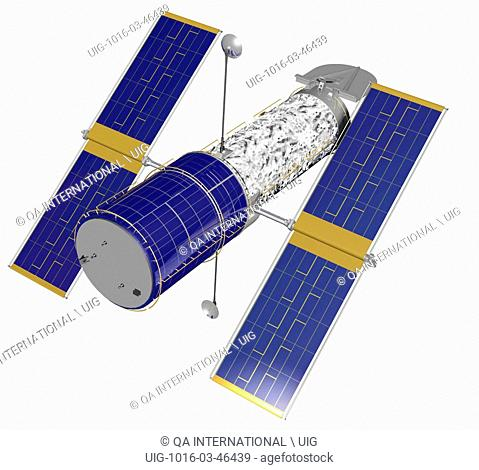 Space telescope with two mirrors, covering the entire spectrum of light. It was launched into orbit in 1990