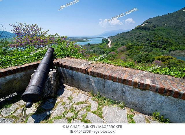 Cannon, fortification, Roman ruins, UNESCO World Heritage Site, Buthrotum, Albania