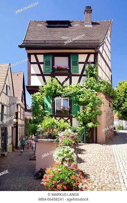 Half-timbered houses in the historical Old Town of Gengenbach, Kinzigtal, Black Forest, Baden Württemberg, Germany