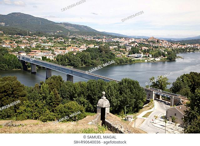 The fortified town of Valenca do Minho was erected in the early 13th century in order to defend the population against Spanish attacks