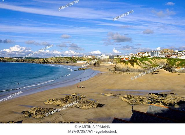 Towan Beach, Newquay, Cornwall, England, United Kingdom