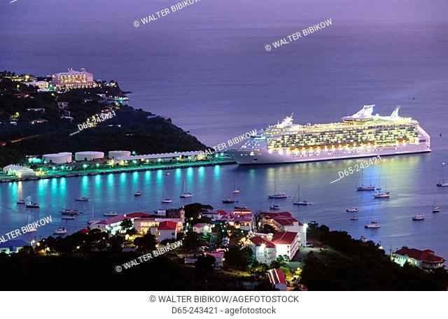 Charlotte Amalie from Waldemar Hill. Saint Thomas Island. U.S. Virgin Islands
