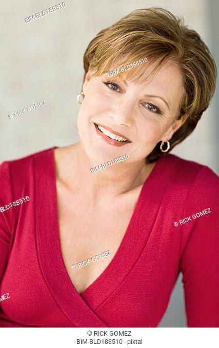 Close up of Cuban woman smiling
