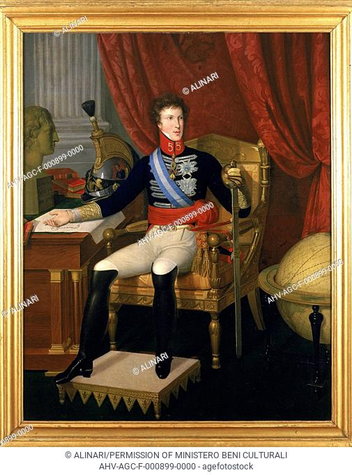 Portrait of Carlo Ludovico di Borbone, painting by unknown artist from Tuscany, exhibited at the Picture Gallery of Mansi Palace, Lucca. (1820-1840 ca