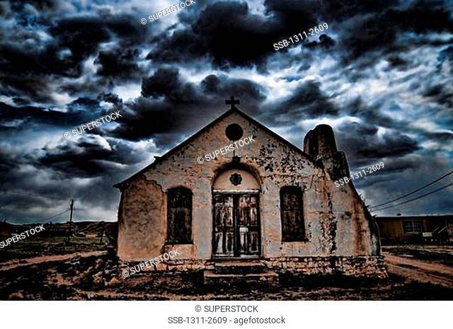 Facade of an old church, New Mexico, USA