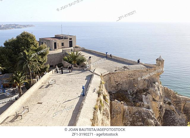 Santa Barbara castle fortress, historic monument. Alicante, Spain