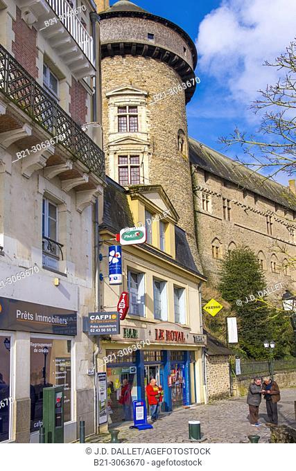 France. Pays de la Loire, Mayenne, Laval, and it's castle