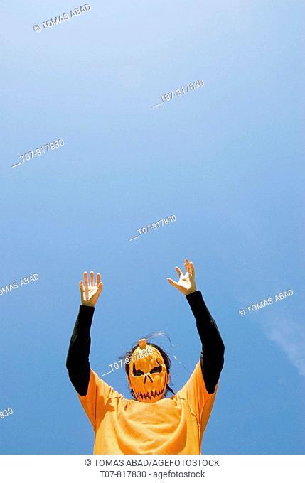 Halloween mask - pumpkin mask