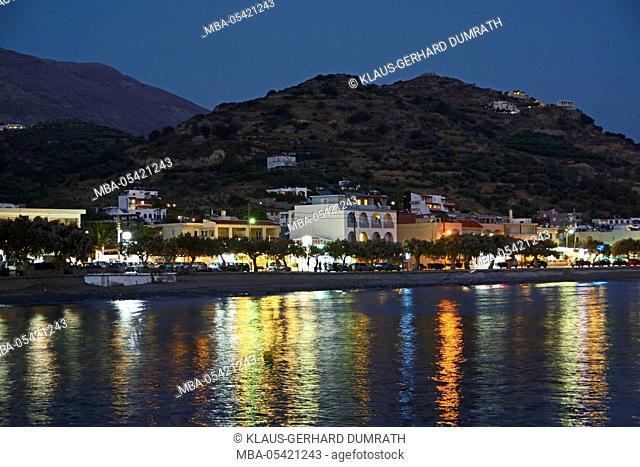 Crete, evening in Plakiás