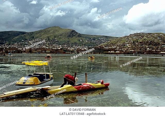 Puno is a town on the shores of the lake,and is at the centre of an important livestock and farming region