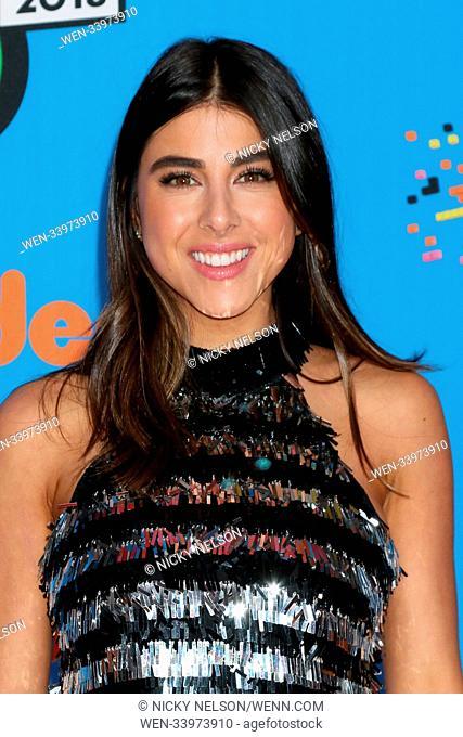 2018 Nickelodeon Kids' Choice Awards, held at The Forum in Inglewood, California. Featuring: Daniella Monet Where: Inglewood, California