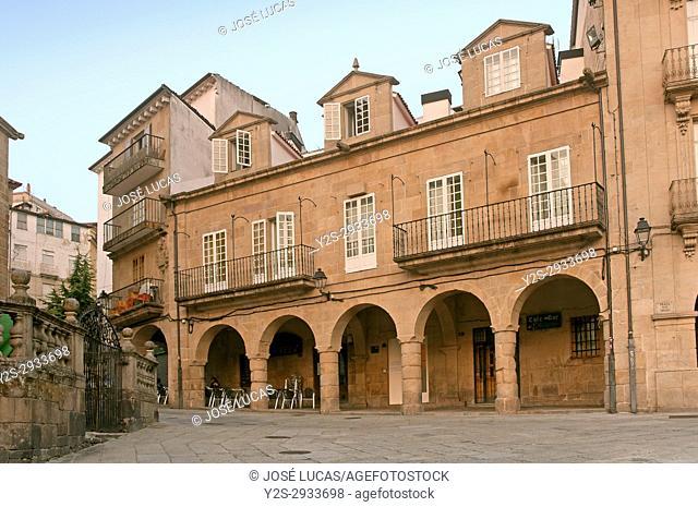 Plaza del Trigo, old town, Orense, Region of Galicia, Spain, Europe