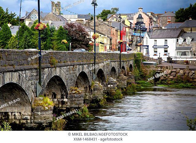 Killorglin city view  Ring of Kerry, Iberagh Peninsula  County Kerry, Ireland