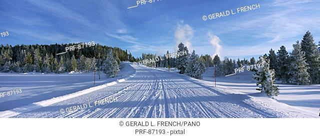 Winter Road Yellowstone National Park CA