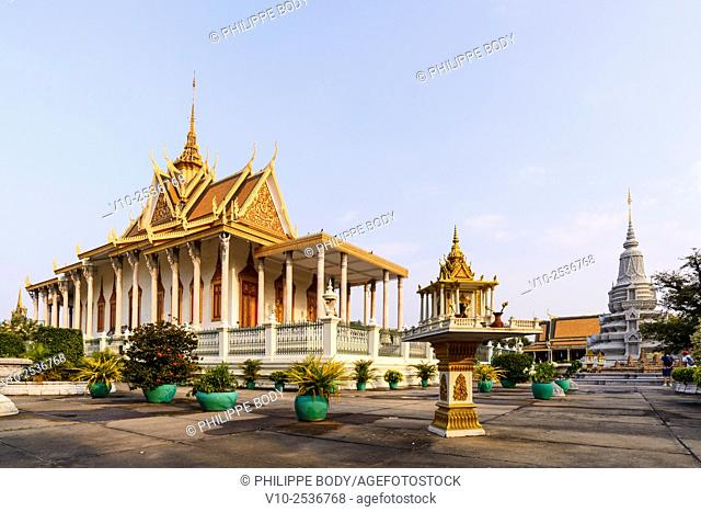 Cambodia, Phnom Penh, Silver Pagoda inside the Royal palace, dated 19 th. century